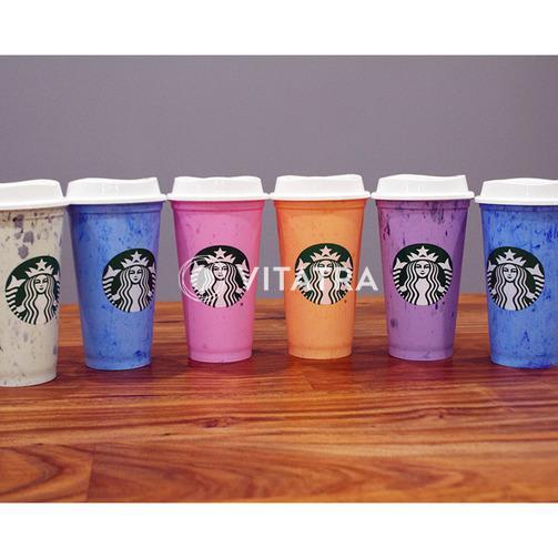(우주딜)심플한 스타벅스 리유저블 컵 (따뜻한 음료용) 6개 세트 (한정판! 품절되면 못구해요~)